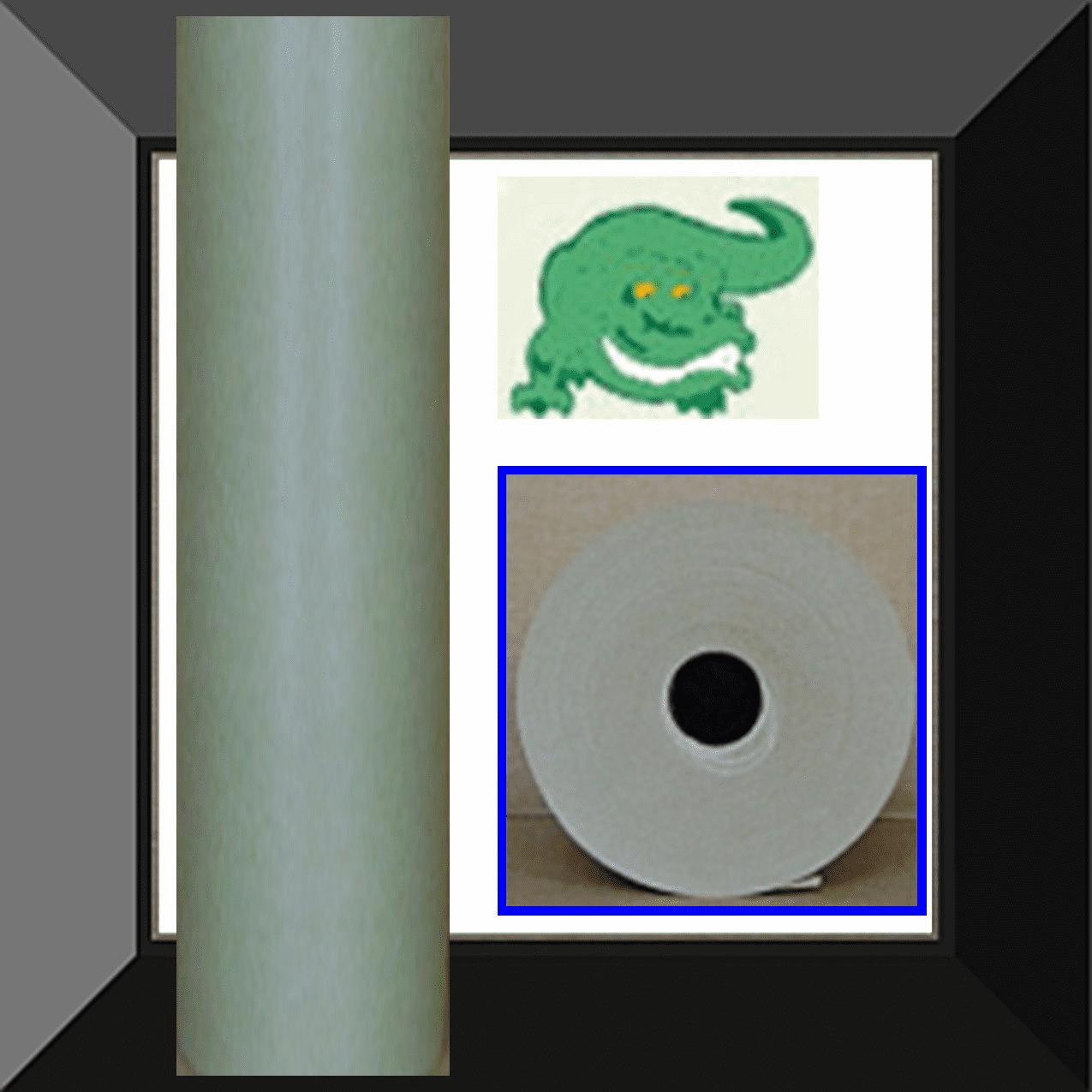 PPC-PG36E Gator Back Green Poly Coated 36in wide X 500ft Masking Paper. Sold by the roll