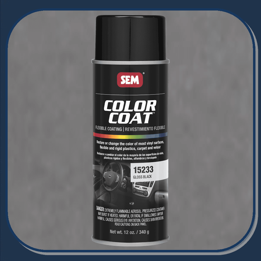 SEM-15233 Gloss Black Color Coat 12oz Aerosol