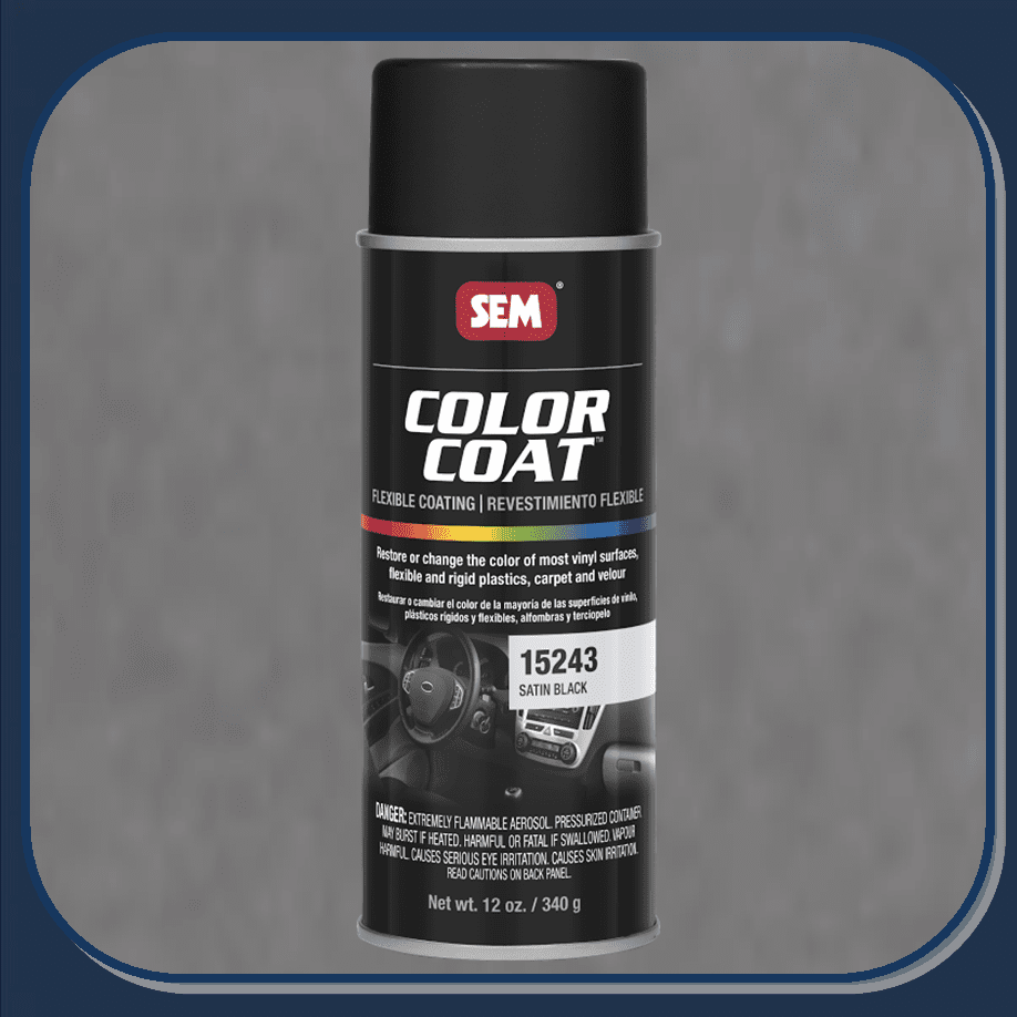 SEM-15243 Satin Black Color Coat 12oz Aerosol