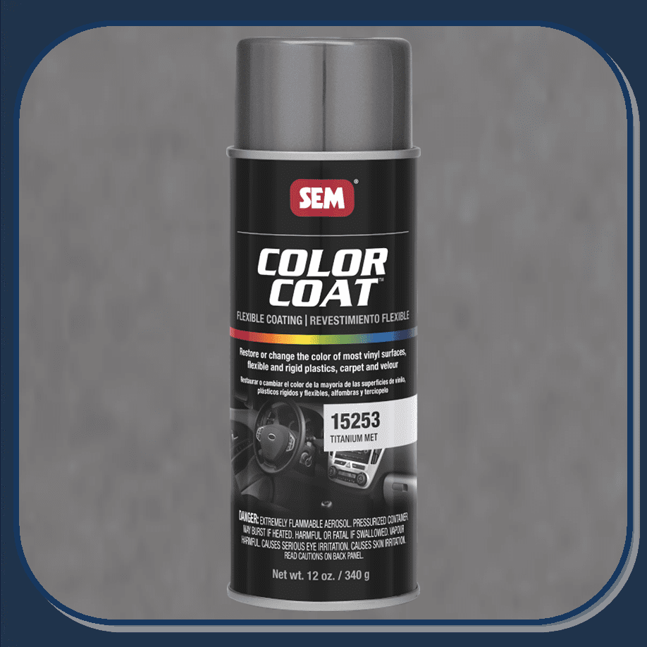 SEM-15253 Titanium Metalic Color Coat 12oz Aerosol