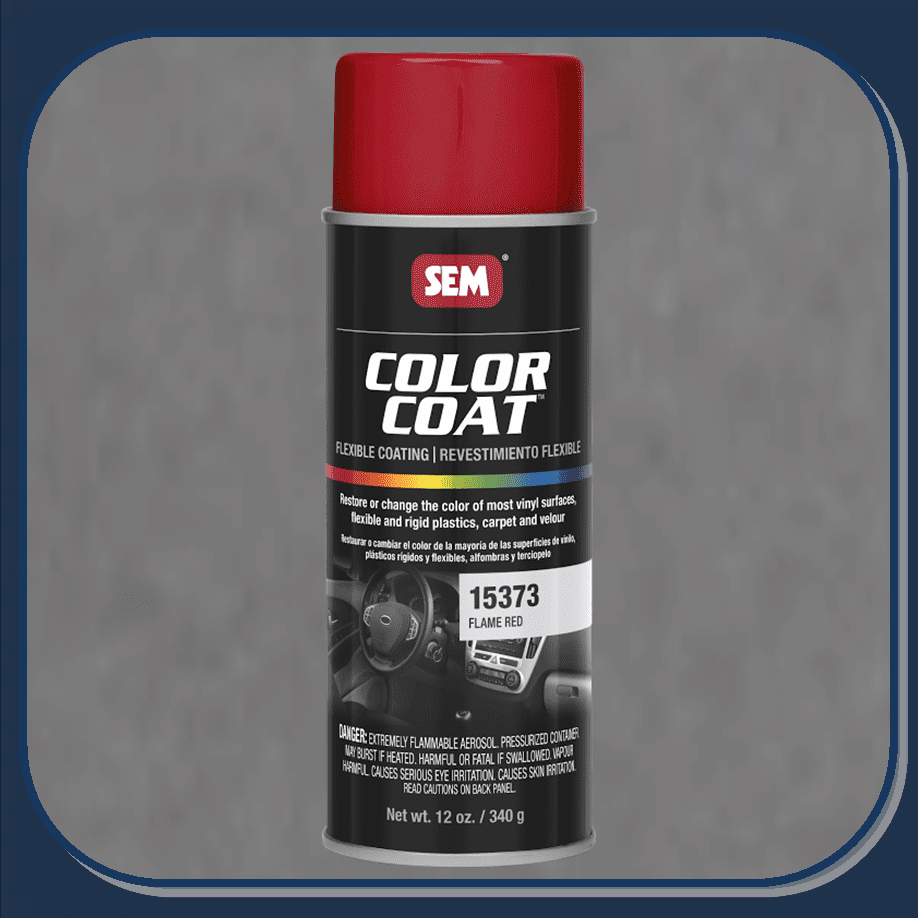 SEM-15373 Flame Red Color Coat 12oz Aerosol