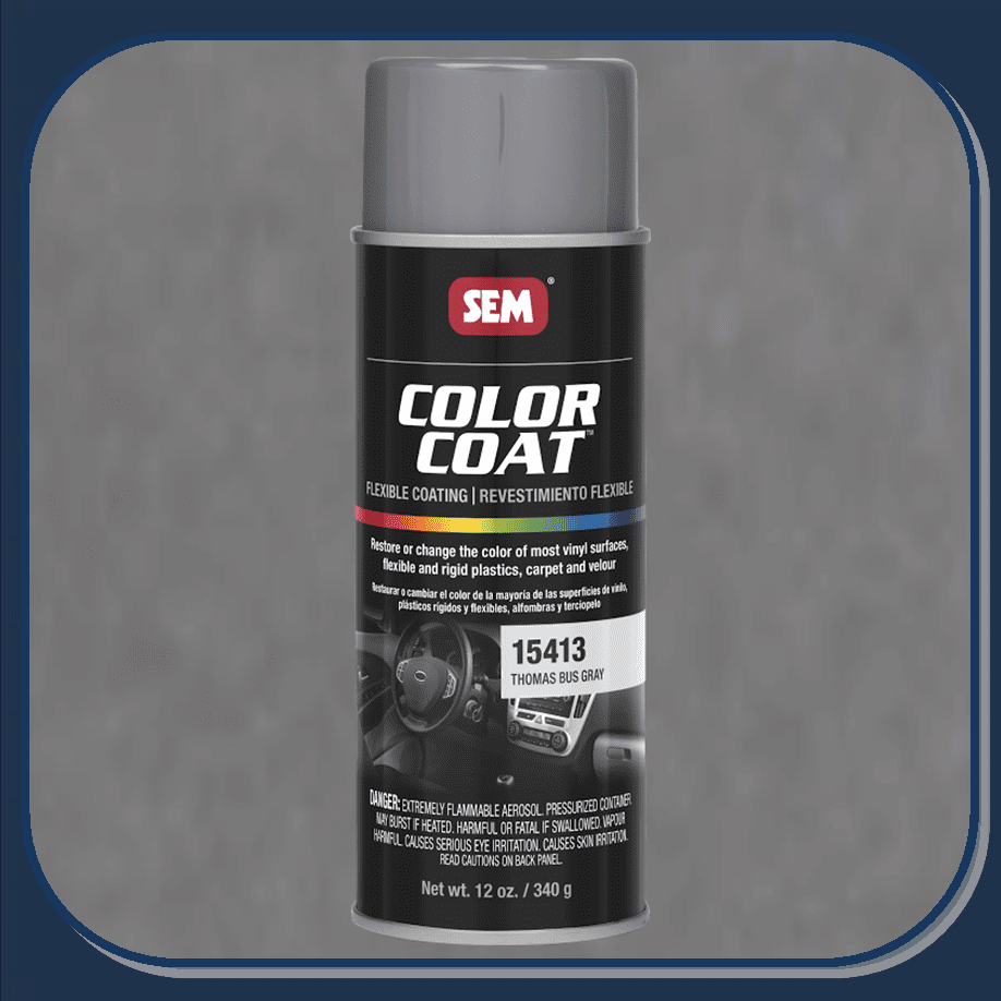 SEM-15413 Thomas Bus Gray Color Coat 12oz Aerosol
