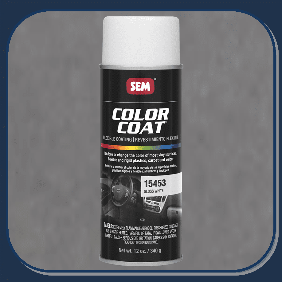SEM-15453 Gloss White Color Coat 12oz Aerosol