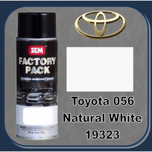 """DISCONTINUED"" SEM-19323 SEM Factory Pack Basecoat Toyota Paint Code 056 ""NATURAL WHITE"" 12oz Aerosol"