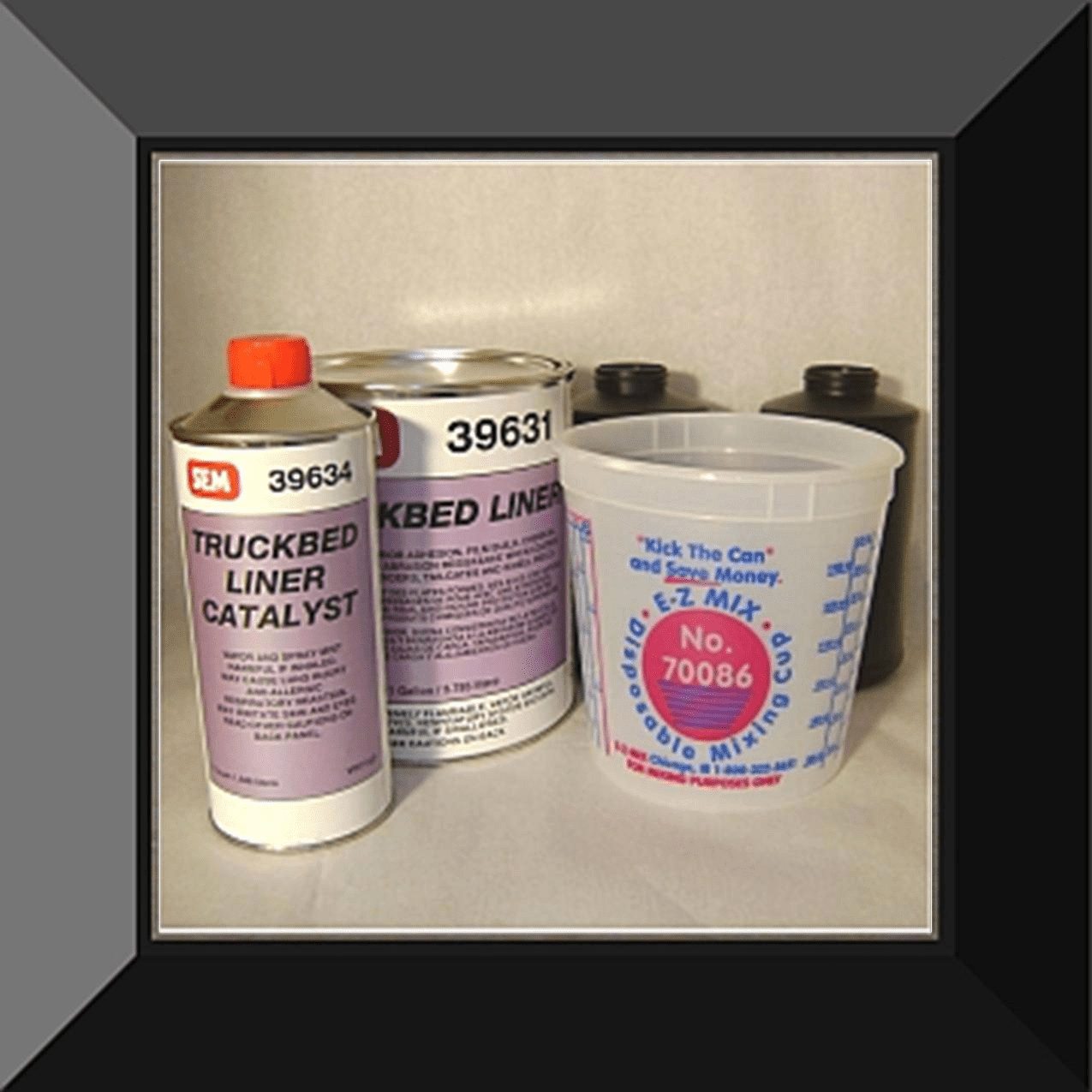 "SEM-39630 SEM PRODUCTS ""BLACK"" URETHANE SPRAY IN TRUCKBED LINER GALLON KIT (4:1 mix ratio)"