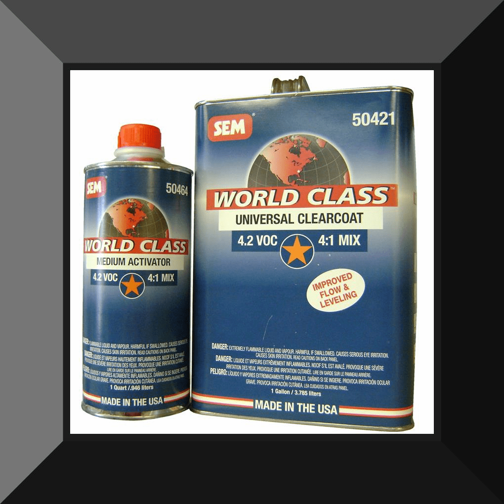 SEM-50421 WORLD CLASS UNIVERSAL 4:1 CLEAR COAT GALLON KIT