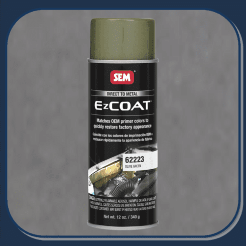 "SEM-62223 SEM PRODUCTS ""OLIVE GREEN"" EZ-COAT Direct to Metal Coating Factory Matched to E-Coat and Primers"