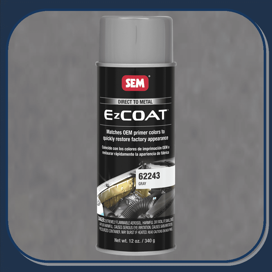 "SEM-62243 SEM PRODUCTS ""GRAY"" EZ-COAT Direct to Metal Coating Factory Matched to E-Coat and Primers."