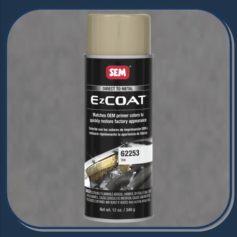 "SEM-62253 SEM PRODUCTS ""TAN"" EZ-COAT Direct to Metal Coating Factory Matched to E-Coat and Primers."