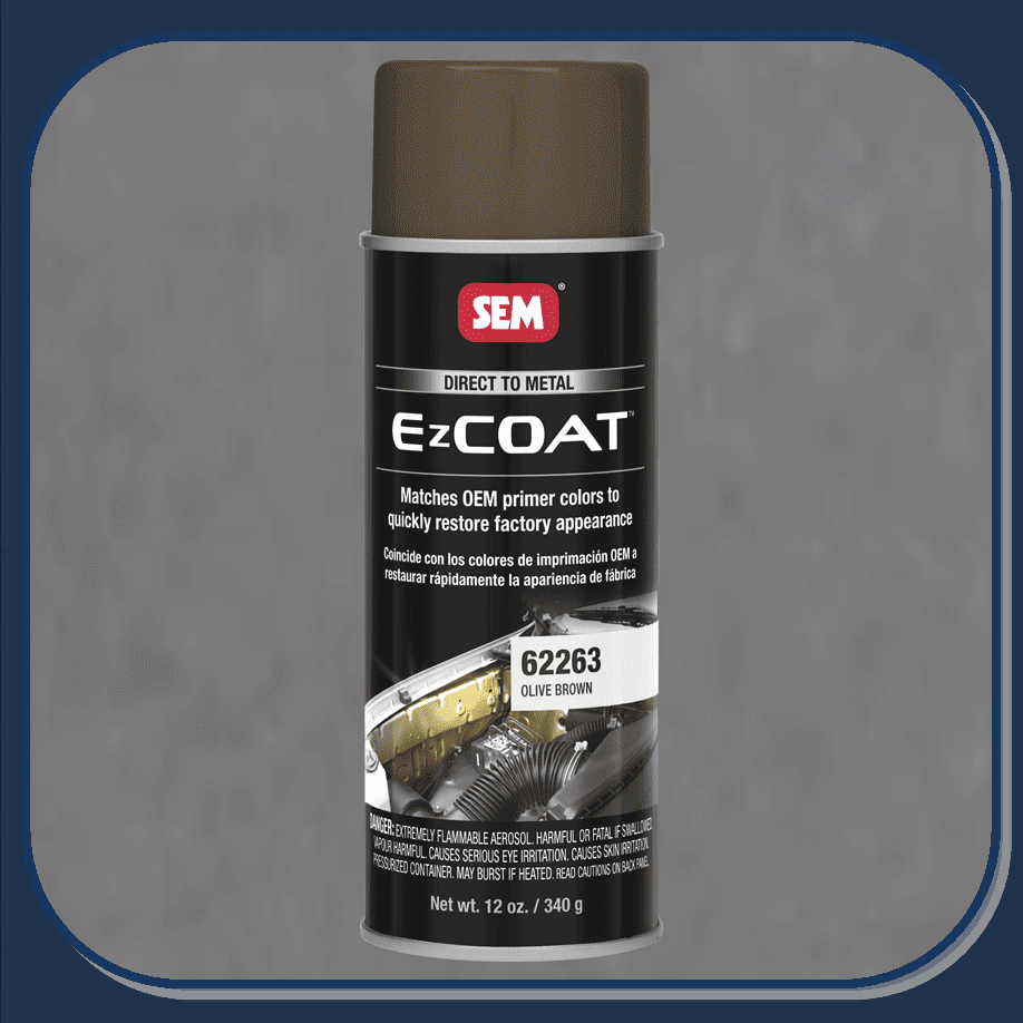 "SEM-62263 SEM PRODUCTS ""OLIVE BROWN"" EZ-COAT Direct to Metal Coating Factory Matched to E-Coat and Primers."