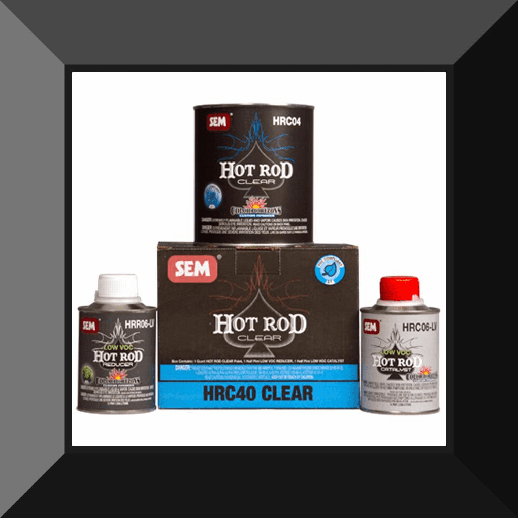 SEM-HRC40 Hot Rod Flat Finish Clear Quart Kit