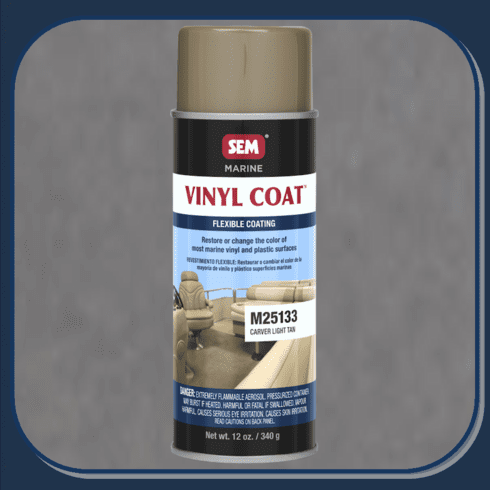 SEM-M25133 Carver Light Tan Marine Vinyl Coat 12oz Aerosol