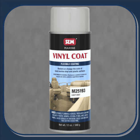 SEM-M25193 Light Gray Marine Vinyl Coat 12oz Aerosol