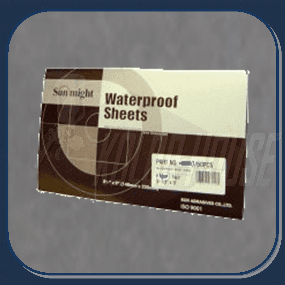 """SUN-07221 SUN MIGHT  1200grit 5-1/2"""" x 9"""" """"WET OR DRY"""" PAPER 50sheets per box"""