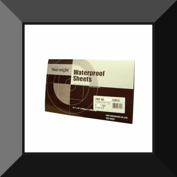 """SUN-07225 SUN MIGHT  3000grit 5-1/2"""" x 9"""" """"WET OR DRY"""" PAPER 50sheets per box"""