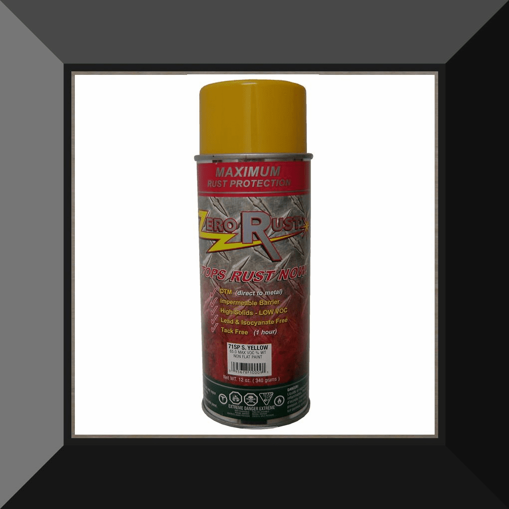 ZRO-71SP Zero Rust Safety Yellow Aerosol