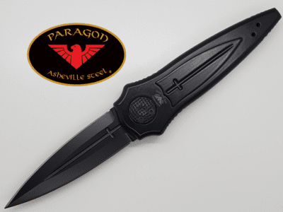 "Paragon Cross/Shield/Sword Black Shield Aluminum (4"" Black)"