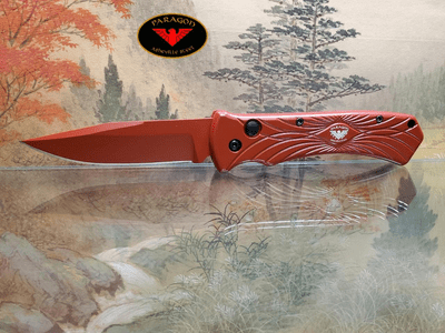Paragon ERT Emergency Response Team Automatic Knife Red