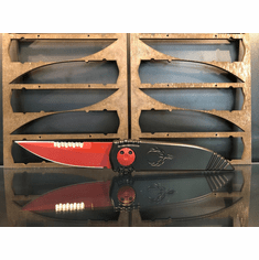 "Paragon Phoenix Knife Black (3.8"" Red Cerakote Serr)"