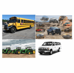 Busses, Farm, Motorhomes, Off-Road, Vans - FD