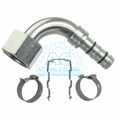 E-Z CLIP FITTING 90� O.S. FEMALE O-RING w/QUICK DISCONNECT OS-12