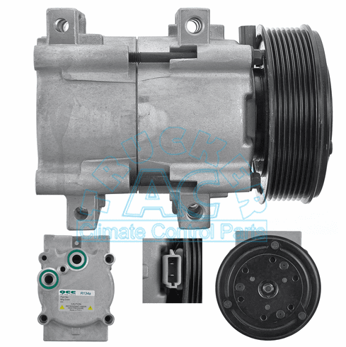 Ford Compressor & Clutch OEM# F77Z-19V703A
