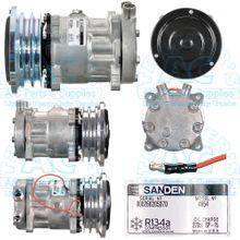 Sanden Compressor - Genuine OEM Grade Manufacturer #: 4654 - Farm & Off Road