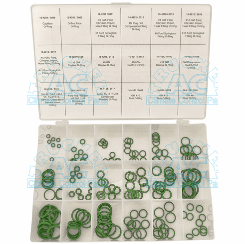 Universal O'Ring Assortment HNBR Material R12 / R134a Compatible