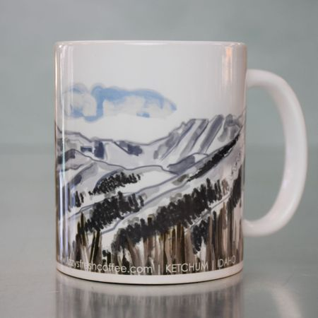 LIZZY'S GRAPHIC PIONEER MOUNTAINS MUG-11 OZ