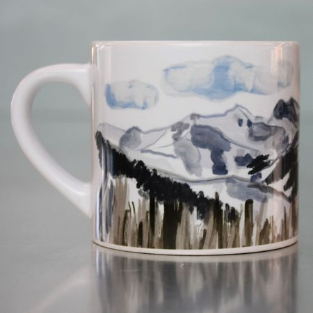LIZZY'S GRAPHIC PIONEER MOUNTAINS MUG-6 OZ