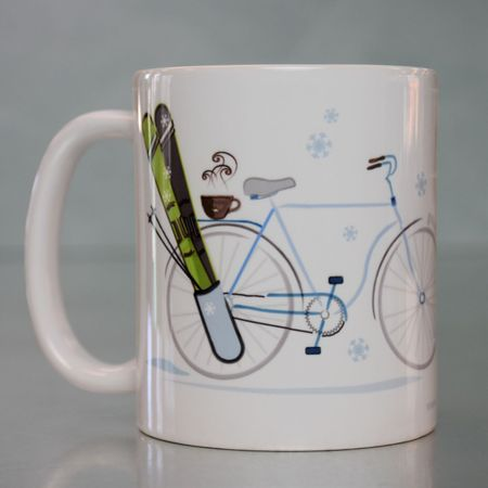 LIZZY'S GRAPHIC SKI & BIKE MUG-11 OZ