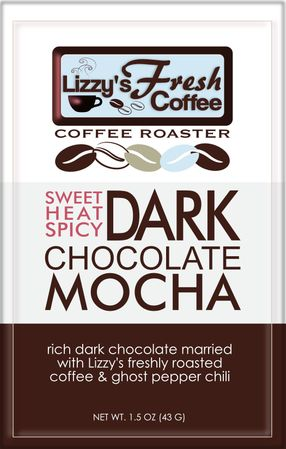 LIZZY'S SWEET HEAT SPICY DARK CHOCOLATE MOCHA BAR-1.5 OZ