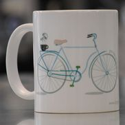 LIZZY'S GRAPHIC BIKE MUG-11 OZ
