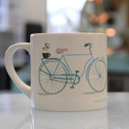 LIZZY'S GRAPHIC BIKE MUG-6 OZ