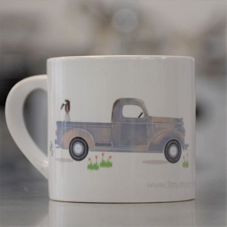LIZZY'S GRAPHIC TRUCK MUG-6 OZ