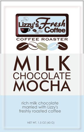 LIZZY'S MILK CHOCOLATE MOCHA BAR-1.5 OZ