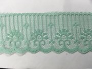 Spring Green Delicate Scalloped Lace Trim 2 Inches