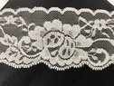 White Rose Stretch Lace trim Double Scalloped Trim 2 Inches