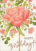 BU165 - Geranium Birthday Cards