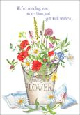 GW1503 - Flower Pail Get Well Card