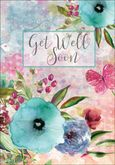 GWU510 - Garden Flowers Get Well Card