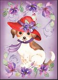 MBL29 - Puppy Red Hat Note Cards