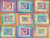 RR01 - Patchwork Hearts Note Card