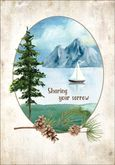 S1214 - Sailboat Sympathy Card