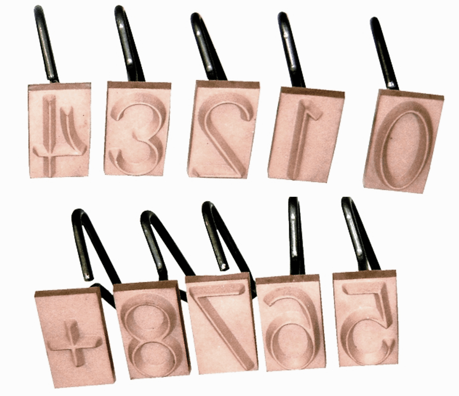 "3"" Number Concrete Stamp Set"