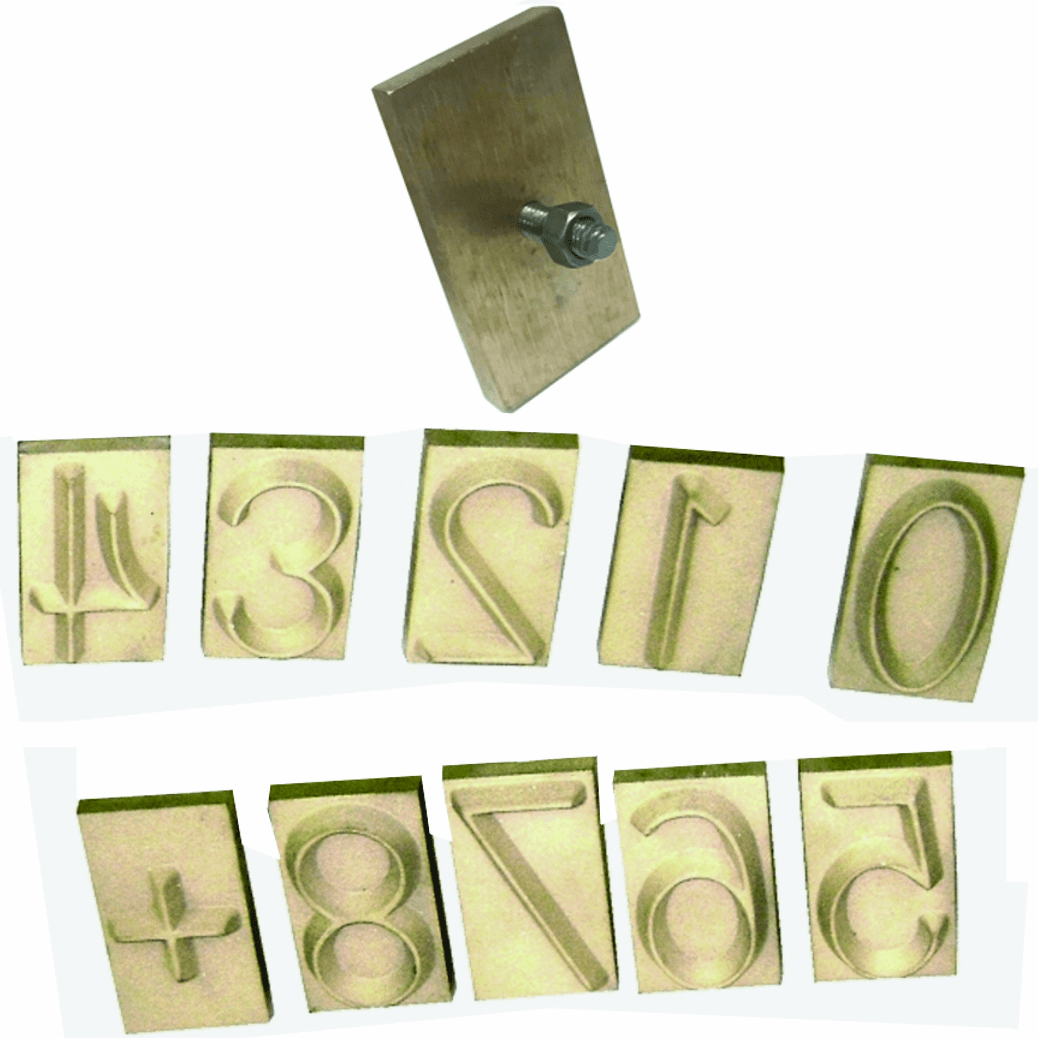 Concrete Number Stamps Interchangeable