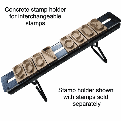 """Interchangeable Concrete Stamp Holder for 2"""", 3"""", and 4"""" Stamps"""