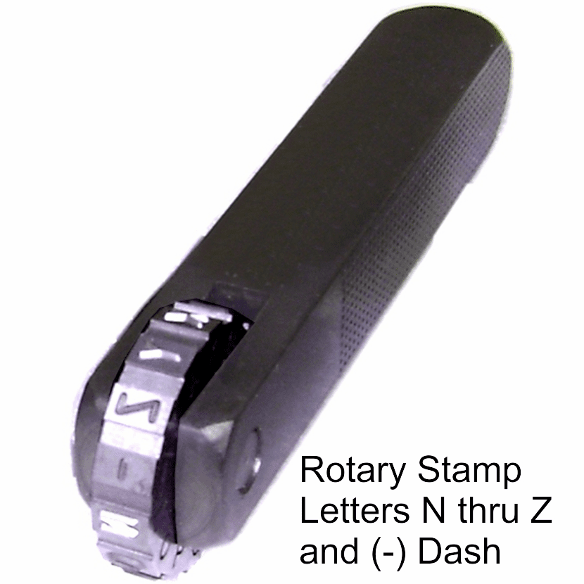 ROTARY STAMP LETTERS N thru Z