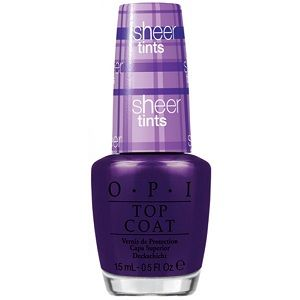 OPI Sheer Tints Top Coat, Don't Violet Me Down NTS03
