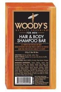 Woody's For Men Hair and Body Shampoo Bar, 8 oz